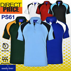 Mens CoolDry HI VIS POLO SHIRTS (Hivis Arm Panels) Workwear Sports Work PS61