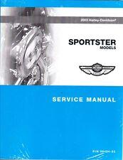 2003 Harley Sportster XL883 XL1200 Repair Service Workshop Shop Manual 99484-03