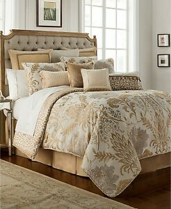 Waterford Reversible Ansonia 4-Pc Bedding Collection Gold/Ivory King Macy's $575