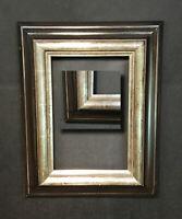 Eleganter Bilderrahmen Altsilber  Gemälderahmen BLATTSILBER  34,5x44,5 für 31x21