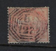 INDIA USED IN BURMA :1858 QV 2a orange used with a B/127 in octagon-MOULMEIN