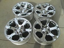 "20"" DODGE RAM 1500 FACTORY CHROME CLAD WHEELS RIMS A"