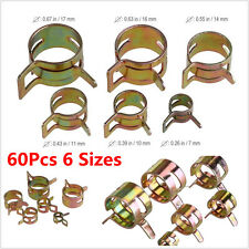 60Pcs 6 Sizes Car Auto Fuel Oil Water Hose Pipe Tube Clamp Spring Clip Fastener