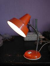 Lampe de bureau orange vintage 70's Abat-jour diamètre 16 cm