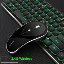 2.4G Rechargeable Wireless LED Backlit Usb Ergonomic Gaming Keyboard+Mouse UK