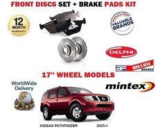 FOR NISSAN PATHFINDER 2.5DT 1/2005-> FRONT 17'' BRAKE DISCS SET + DISC PADS KIT