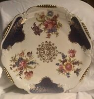 Winterling Bavaria Germany 18 Serving Plate Cobalt Blue with Gold Accents