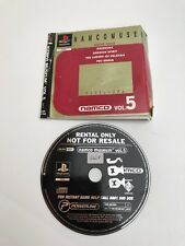 NAMCO MUSEUM Vol 5 PlayStation UK PAL English / BLOCKBUSTER RENTAL complete PS1