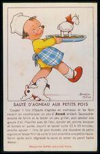 art Beatrice Mallet advertising ASTRA Margerine original c1920s postcard aa