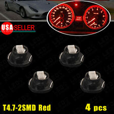 4Pcs T5/T4.7 Neo Wedge Red LED Bulb Dash Climate Control Instrument Panel Light