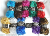 KING COLE TINSEL CHUNKY GLITTER KNITTING YARN WOOL 50G BALL
