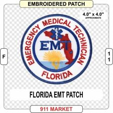 Florida EMT Patch FL State Medic Emergency Medical Technician EMS Ambulance F 11