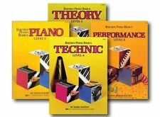 Bastien Piano Basics Level 4 (4 book set) Performance Technic, Theory Piano pack