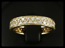 2-reihiger Brillant Memory Ring ca. 1,24ct 750/- Gelbgold