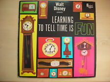 Disneyland Records LEARNING TO TELL TIME IS FUN LP 1964