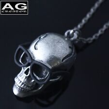 """Skull with black glasses opening mouse pendant 32"""" chain necklace US SELLER"""