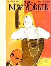 Very Nice New Yorker Magazine 11/26/1932  - Opera Singer - GALBRAITH