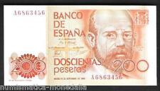 ESPAÑA 200 PESETAS 1980 ALAS CLARÍN Pick#156 SC UNC SPAIN