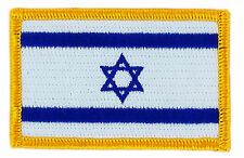 FLAG PATCH PATCHES ISRAEL ISRAELI  IRON ON COUNTRY EMBROIDERED WORLD SMALL