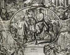 Roi Assuérus Perse Esther Bible Basnage Gravure Romain de Hooghe 1704