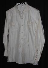 Vtg 50s 60s Western Shirt Pearl Snap Cotton Printed Rockabilly 15 33 Medium