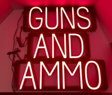 SpellBrite GUNS AND AMMO Retail Sign LED Lights