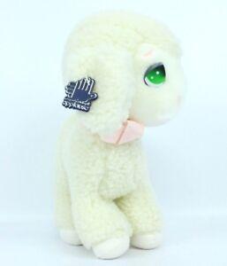 "Vintage 80s Applause Sheep Lamb Plush Stuffed Animal Toy 10"" 1980s  White"