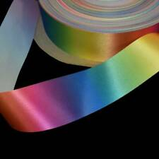"5 Yards Rainbow Ombre Varigated Cut Edge Ribbon 2""W"