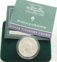2000 Queen Mother Centenary Piedfort £5 Five Pound Silver Proof Coin Box Coa
