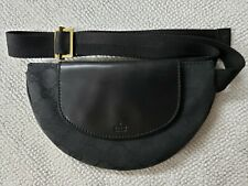 New Rare GUCCI GG Pattern Canvas Leather Black Belt Bag with box 106688