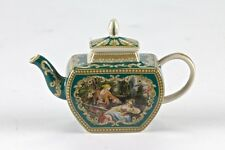"NEW Mini Green Miniature Teapot French European Romantic Art vintage Mark 3"" 8cm"