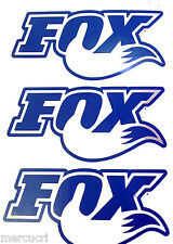 3 Adesivi stikers FOX x bici, auto tuning prespaziato SENZA FONDO OTTIMO kit set