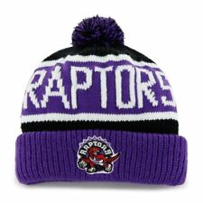 New! NBA Toronto Raptors Embroidered pom Beanie With Cuff