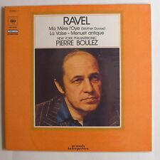 LP/ Boulez / Ravel - Ma mère l'Oye (Mother Goose). La Valse. Menuet antique