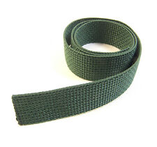 """Webbing, 1"""" Inch Wide Forest Green Polypropylene Sold By-The-Yard 36"""""""