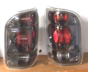 NEW SET 1998-2000 FORD RANGER TRUCK CARBON FIBER STYLE TAIL LIGHTS BRAKE LAMPS