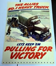 Rare Authentic WWII Poster by GMC The Allies #1 Heavy Truck Large