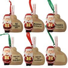 Navidad Árbol Decoración para Colgar - Santa Deseo Lista - Elegir Diseño