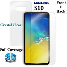 3D Full Coverage 4H Soft Film Screen Protector Samsung Galaxy S10 Front + Back