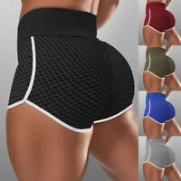 Damen Anti Cellulite PUSH UP Yoga Leggings Sports Hose High Waist Short Hose P/D