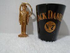 Jack Daniels  No.7 Key Chain and Shot Glass.