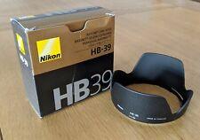 Genuine Nikon HB-39 Bayonet Lens Hood