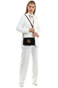 RRP€1270 GUCCI Leather Crossbody Bag GG Logo Magnetic Flap Closure Made in Italy