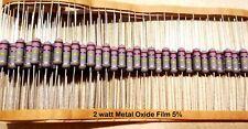 10 PCS 2Watt  Metal Oxide Film Resistors 2W Resistor 5% YOU CHOOSE VALUE