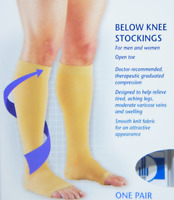 0865 Below Knee 20-30 Mmhg Compression Support Stocking Leg Therapy