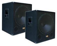 """2x 1000W DJ PA SUBWOOFER Bass-Lautsprecher Boxen PAAR 45cm/18"""" SUB-P45 Passiv"""