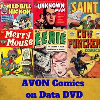AVON Golden Age Comics - 312 Rare Vintage PDF e-Comics on Data DVD Horror Sci-Fi