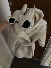 Childrens Dressing Gown - Teddy Fleece - Cream Age 5-6 - M&S