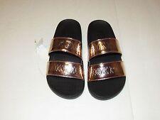 Victorias Secret Pink Sandals, Slides Flip Flops Shoes Size Small Rose Gold NWT