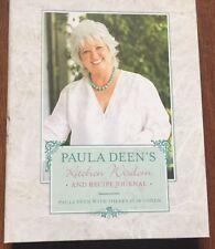 Paula Deen's Kitchen Wisdom and Recipe Journal by Paula Deen (Hardcover) s#6436
